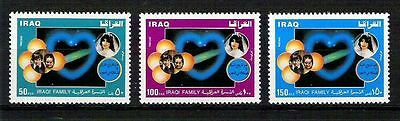 """Iraq 1989  Health Family """" Yes For Early Marriage """"  Set SC No. 1412 - 1414 MNH"""