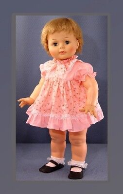 PINK Frilly Doll Dress fits Ideal Kissy Dolls, VINTAGE Store Stock 1960's