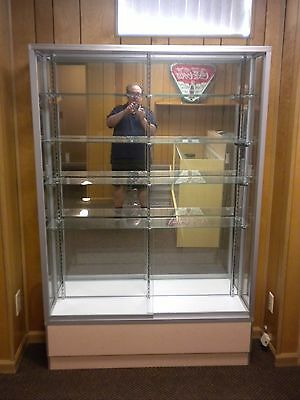 """72"""" Maple Full Vision Showcase Display Case - NM - LOCAL PICK UP ONLY"""