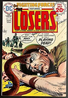 Our Fighting Forces #150 1974 Sharp Vf Minus The Losers ,great Kubert Cover