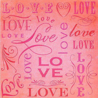 "12"" Smitten Love Paper Scrapbook 12p K&Co WHOLESALE Wedding Invitation Embossed"