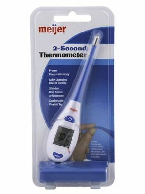 Meijer 2-Second Thermometer - Reads Oral, Rectal, and Underarm - Flexible Tip