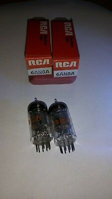 Matched pair of RCA 6AN8A Vintage Tube & Tube Socket. NOS/NIB
