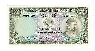 Portugal Guinea - Fifty (50) Francs  1971  !!UNC!!