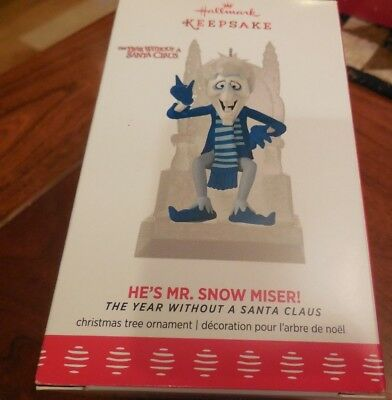 2017 Hallmark Ornament HE'S MR. SNOW MISER! from Year without Santa Claus NEW