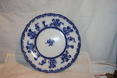Antique Flow Blue New Wharf Pottery Plate Louise Pattern