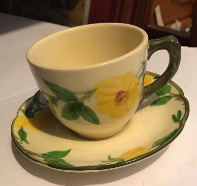 7 FRANCISCAN MEADOW ROSE CUPS and SAUCERS