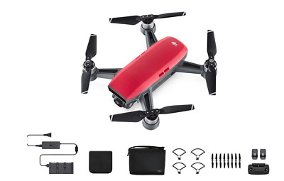 DJI Spark, Fly More Combo, Lava Red- BRAND NEW