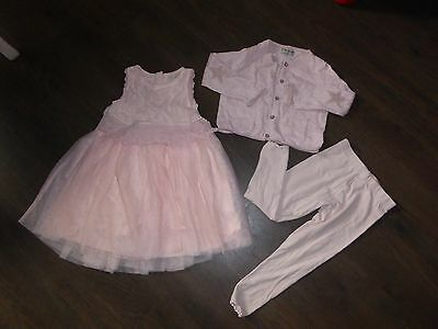 NEXT Girls Dress Outfit Age 2 - 3 Years Wedding Flower Girl Bridesmaid PINK