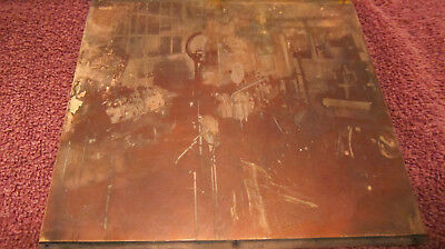 Vintage Copper Printing Plate Printers Block Industrial Factory Automotive 6""