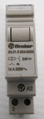 Finder 20.21.9.024.0000 Impulse Latching Relay 24VDC Coil 16 A 250VAC