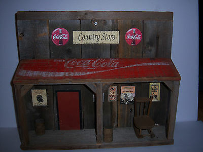 Hand Made  Coca Cola Wood Store Front(Out Of A Old Estate)