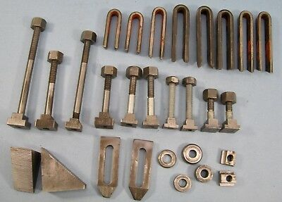 Milling Machine Hold Down Clamps Step Blocks T Nuts Hairpins, etc.