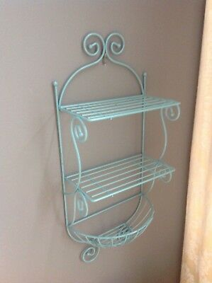 VINTAGE STYLE WROUGHT IRON WALL MOUNT Hanger BASKET FLOWER POT PLANT HOLDER