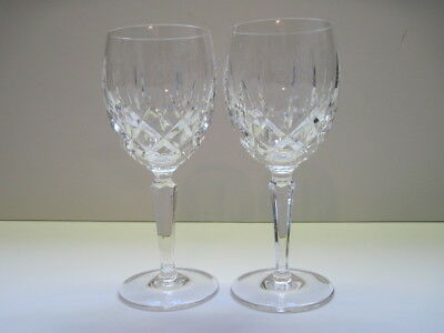 """2 Gorham Lady Anne Crystal Wine Goblets Glasses 6 7/8 """"  All Signed 8 Available"""
