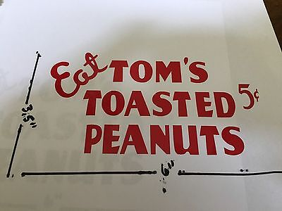 Tom's Peanut/cracker Jar Decal