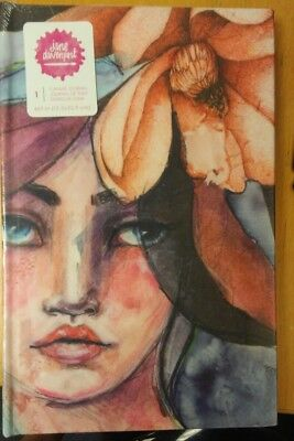 Jane Davenport CANVAS JOURNAL  6 x 9 Mixed Media
