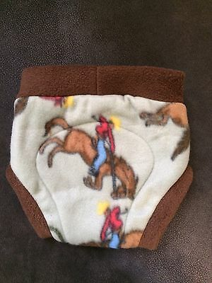 Fleece soaker diaper cover overnight cloth diaper shortie Rodeo Cowboy