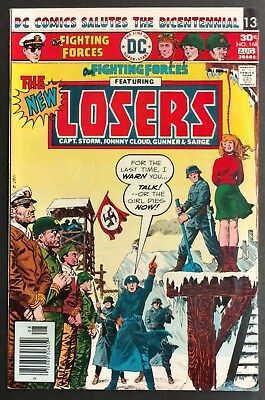 Our Fighting Forces #168 1976 Sharp Fn+ The New Losers Dominguez  Cover