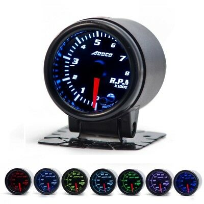 "2"" RPM Gauge (52mm) *7 Colour* Tacho meter Evo V8 SS XR Motorbike REV Falcon*"