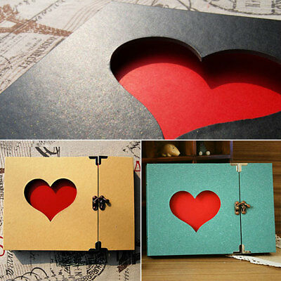 Vintage Hollowed Heart Photo Image Album Scrapbook Sticker Gift Memory