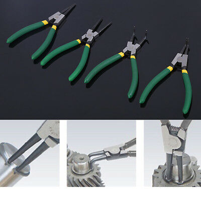 "4X 7"" inch Circlip Pliers Combo Car Shaft Spindle Ring Clip Installation Tool"