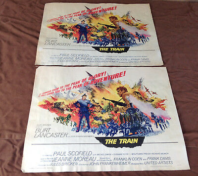 2 1965 The Train Original Movie House Half Sheet Posters