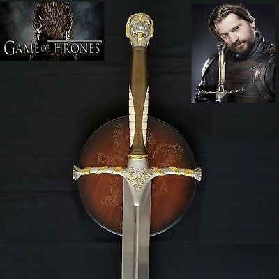 GAME OF THRONES - JAMIE LANNISTER'S SWORD with wall plaque