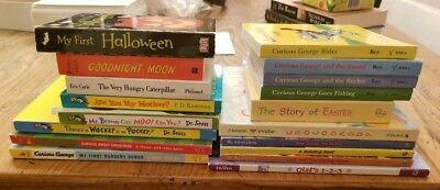 Lot of 18 Childrens Board Books Baby Pre School Daycare Dr Seuss,Curious George