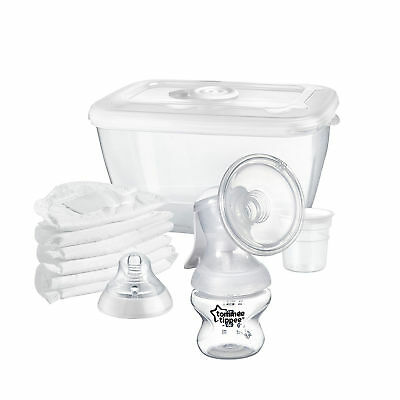Tommee Tippee Manual Breast Pump  Closer Nature Feeding Baby Storage Steriliser