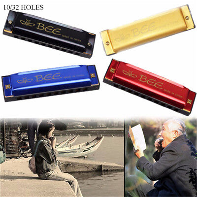 10/16 Holes C Key Bee Harmonica Mouth Organ Musical Instrument Kids Toys Gifts