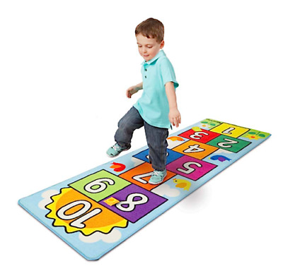Kids Hopscotch Mat Rug Jumping Indoor Activity Fun Exercise Game with Friends