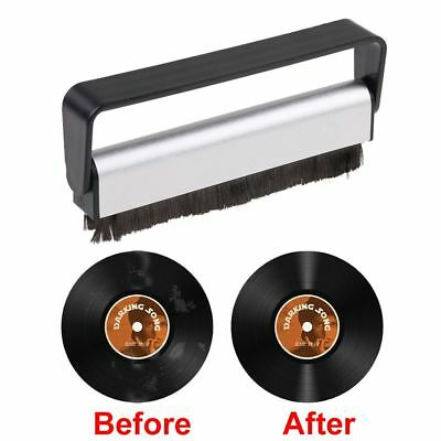 Carbon Fiber Record Cleaner Cleaning Brush Vinyl Anti Static Dust Remover NEW