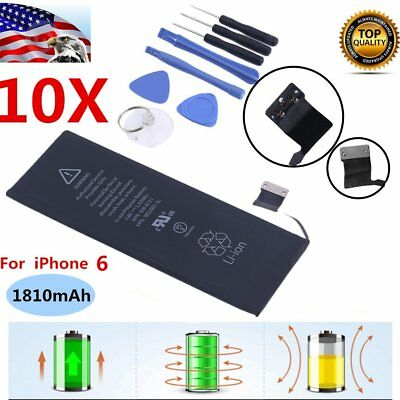 10X Replacement Internal 1810mAh Li-Ion Battery for Apple iPhone 6 + TOOLS kit S