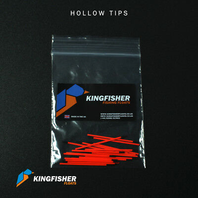 Hollow Tips for Making Fishing Floats Yellow/Orange 1.5mm Bore Pack of 20