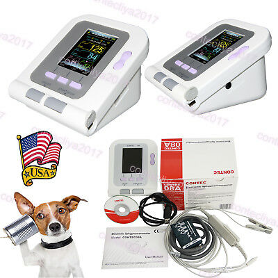 New FDA Digital Veterinary Blood Pressure Monitor CONTEC08A, VET NIBP+SPO2 Probe