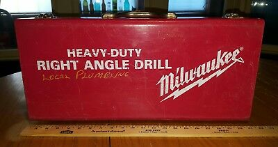 Vintage Heavy Duty MILWAUKEE Metal~Steel~Tool Case/Box/Storage w/ Latches~Drill
