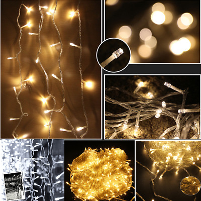100M 500LED Warm White Fairy Christmas String Strip Lights Party Outdoor