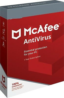 McAfee Antivirus 2019 - 2 PC 1 Year (e Delivery) Windows 7/8/10