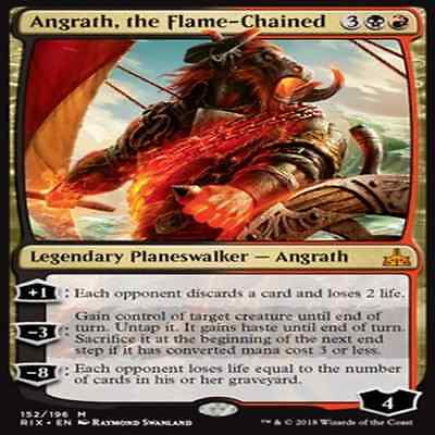 MTG RIX RIVALS OF IXALAN VO M Angrath, the Flame-Chained