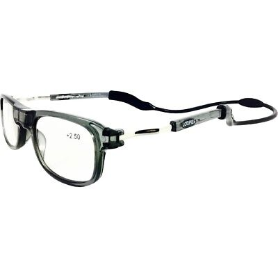 Grey Loopies Magnetic Reading Glasses SALE 50% off Rrp UVA Scratch Resistant