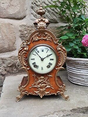 A beautiful walnut boulle clock circa 1870 by the high quality maker Lenzkirch