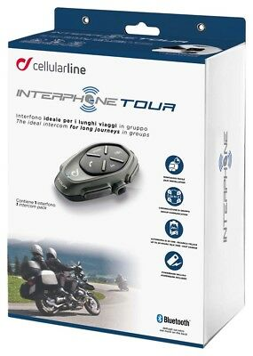 Interphone tour intercom Single/Solo Unit Motorcycle Bluetooth Headset