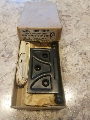 "Vintage NOS National/Stanley 2 1/2"" Screen and Storm Door Hinges, Butts 420 1/2"