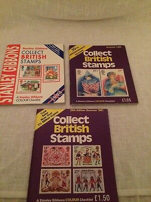 3 x Collect British Stamps by Stanley Gibbons (Paperbacks) FREE UK POSTAGE .