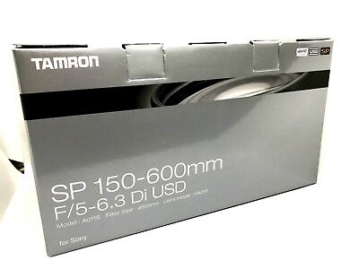 New TAMRON SP 150-600mm f5-6.3 Di USD Lens for Sony Alpha A Mount  (A011)