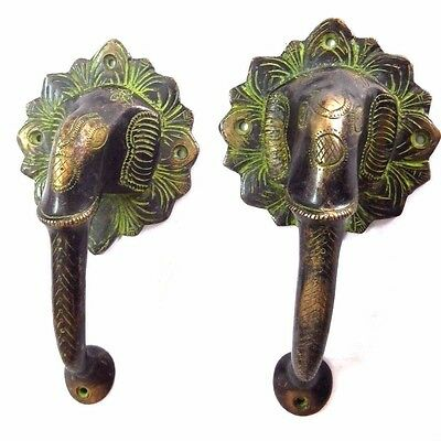 Elephant Antique Vintage Finish Handmade Brass Door Handle Pull Knobs Home Decor