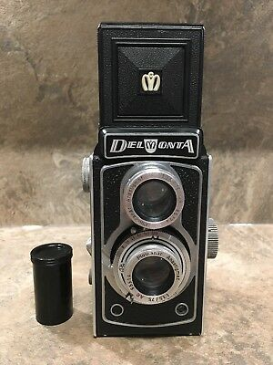 Vintage Montanus (Potthoff) Delmonta 120mm TLR Camera with Case