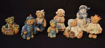Cherished Teddies Figurines Lot of 8 Christmas Ghosts of Past Present Future