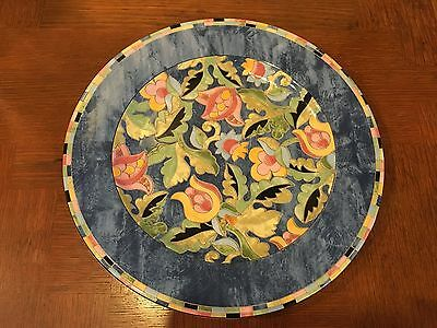 PTS International Interior Fantasia Stoneware Serving Platter Charger Chop Plate